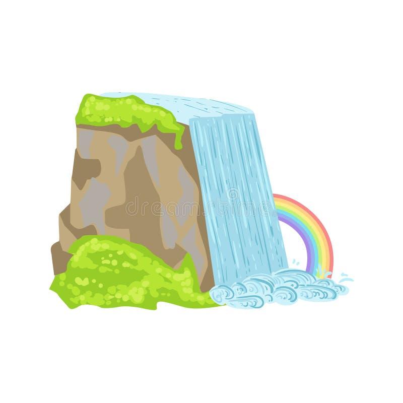 Niagara Falls como símbolo canadiense nacional de la cultura libre illustration