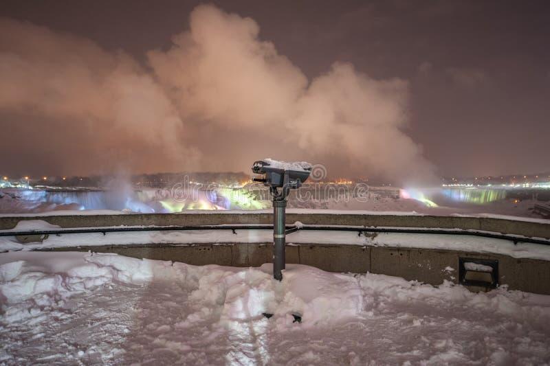 Niagara Falls congelado fotografia de stock royalty free