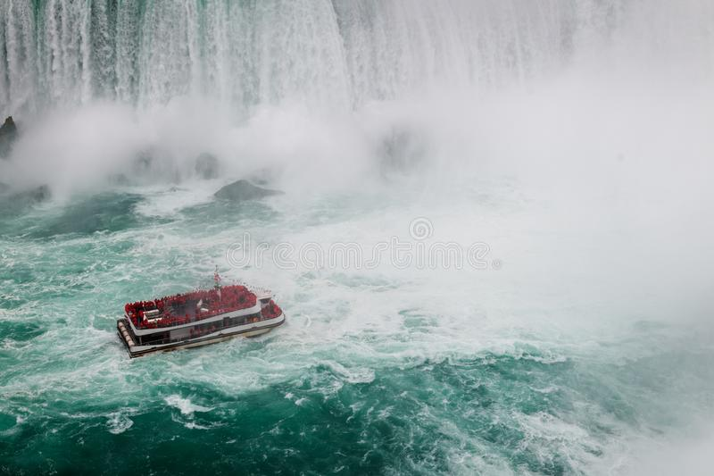 Niagara Falls by day from Canada stock photography