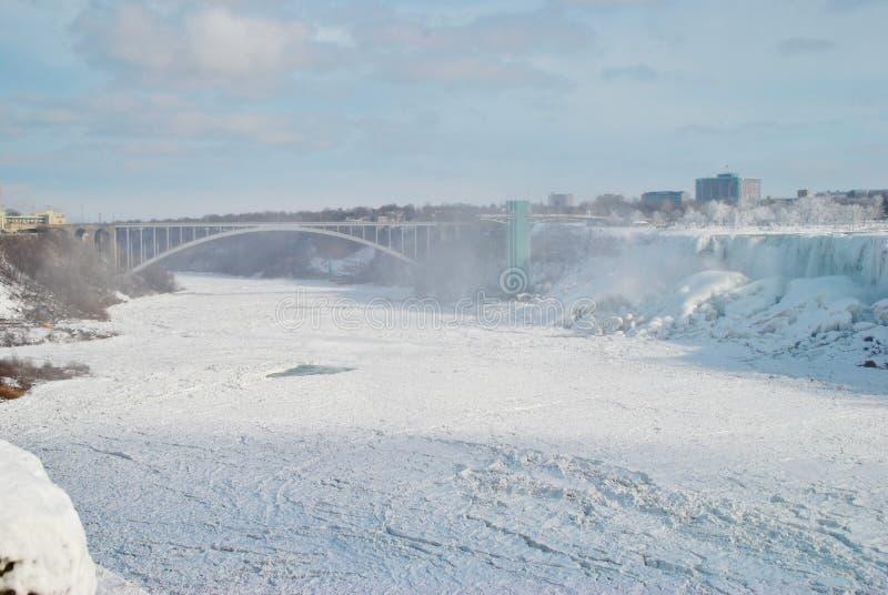 Niagara Falls in de winter royalty-vrije stock afbeeldingen