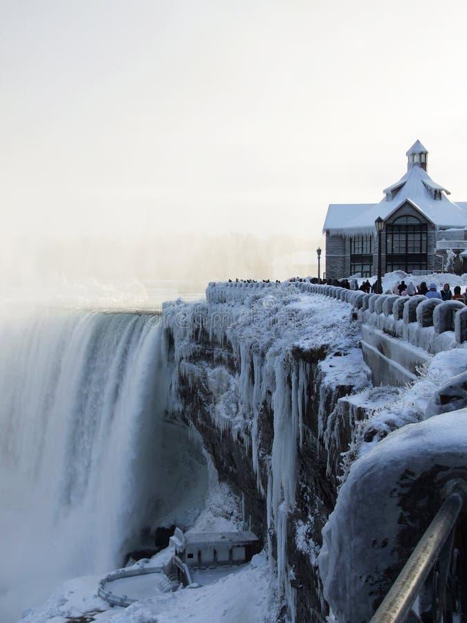 Niagara Falls in de winter stock foto