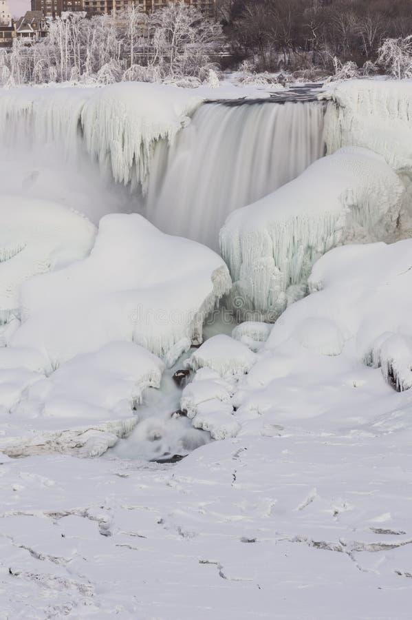 Niagara Falls eingefroren stockbilder