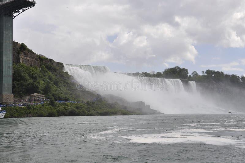 Niagara Falls, el 24 de junio: Estados Unidos echan a un lado de Niagara Falls fotos de archivo libres de regalías
