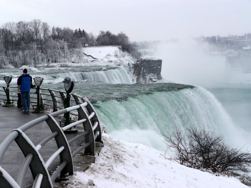 Niagara Falls en hiver image stock