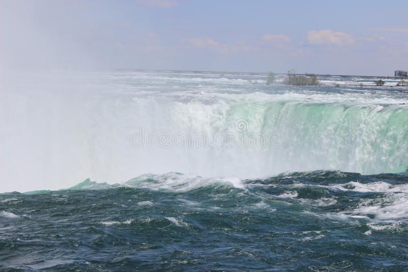 Niagara Falls fr?n Kanada arkivfoton