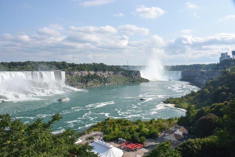 Niagara Falls härlig sikt royaltyfria foton
