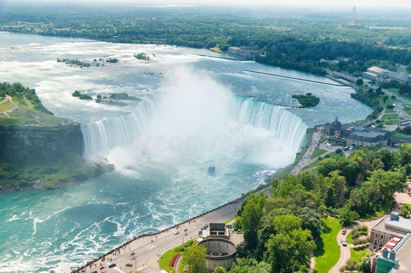 Niagara Falls hästsko royaltyfri bild