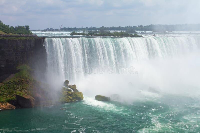 Niagara Falls. Hoefijzer Waterval. stock afbeeldingen