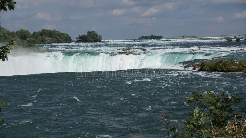 Niagara Falls Horseshoe Waterfall royaltyfria foton