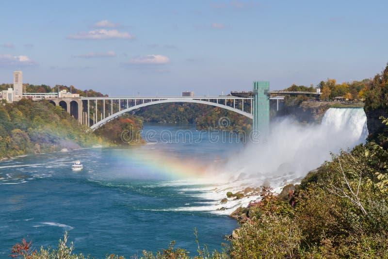 Niagara Falls i höst, USA royaltyfri foto