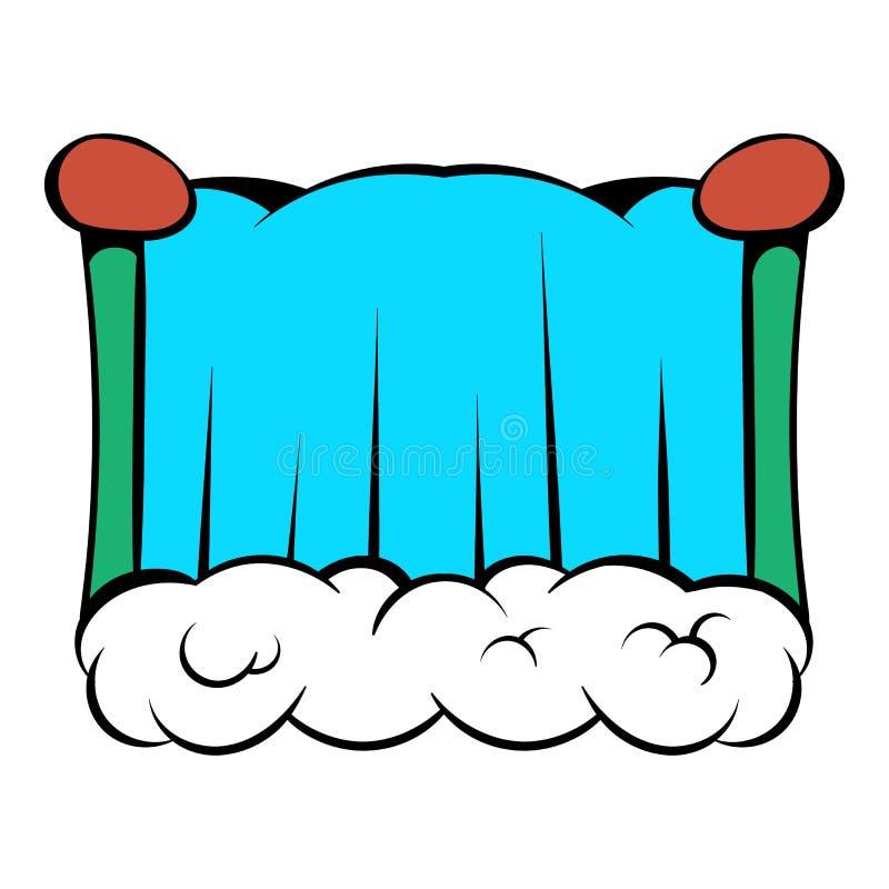 Niagara Falls icon cartoon. Niagara Falls icon in cartoon style isolated vector illustration stock illustration