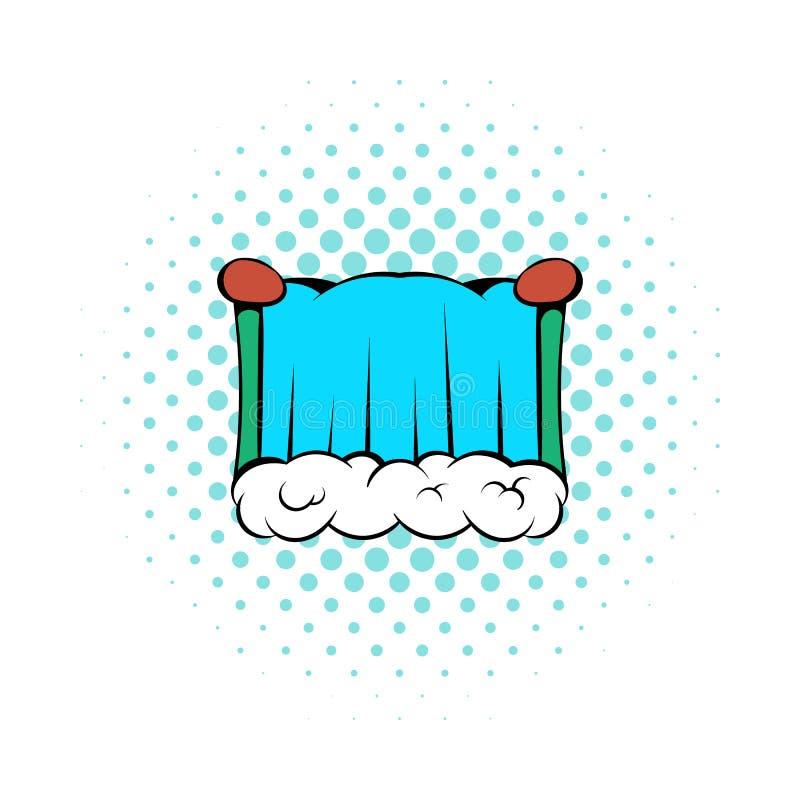 Niagara Falls icon, comics style. Niagara Falls icon in comics style on a white background vector illustration