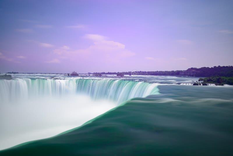 Niagara Falls, long exposure capture royalty free stock photos