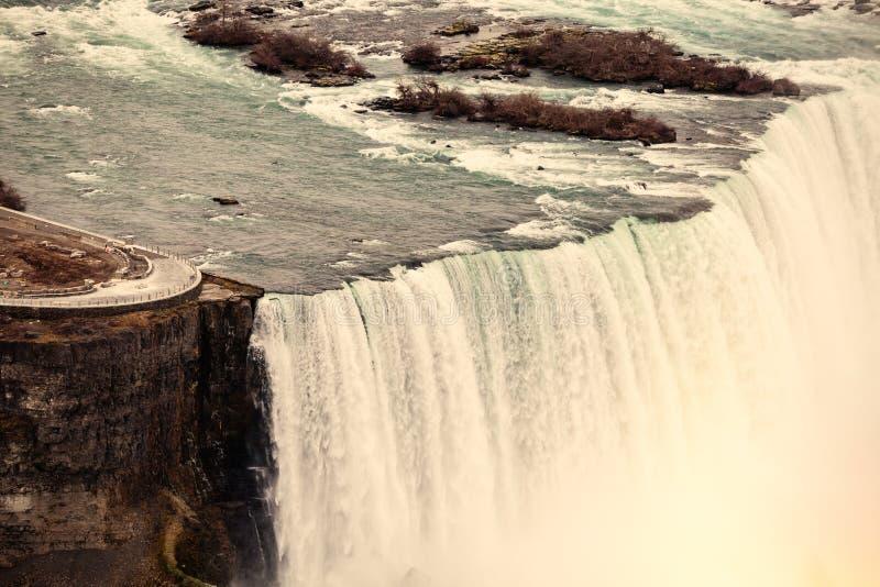 Niagara Falls Lucht Mening stock fotografie