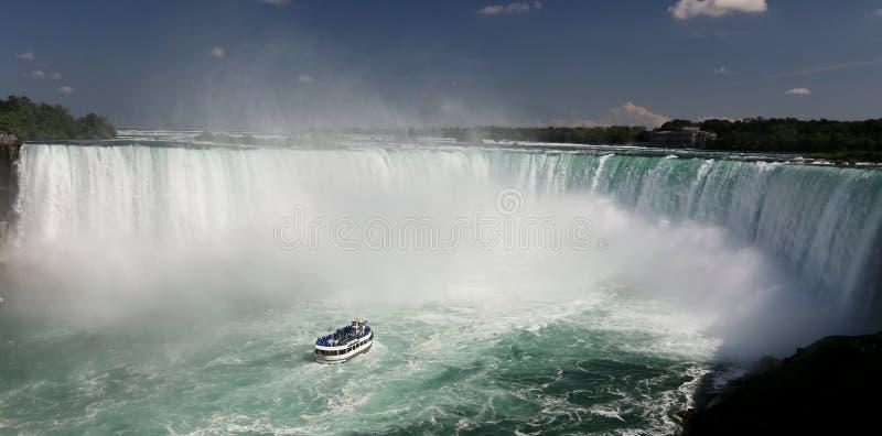 Niagara Falls. Maid of the mist at Niagara falls royalty free stock image
