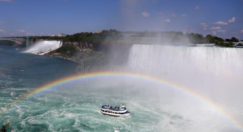 Niagara Falls. Maid of the mist at Niagara falls stock image