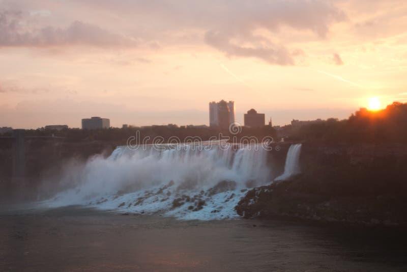 Download Niagara Falls In Morning Glow Stock Image - Image of canada, sunrise: 11071901