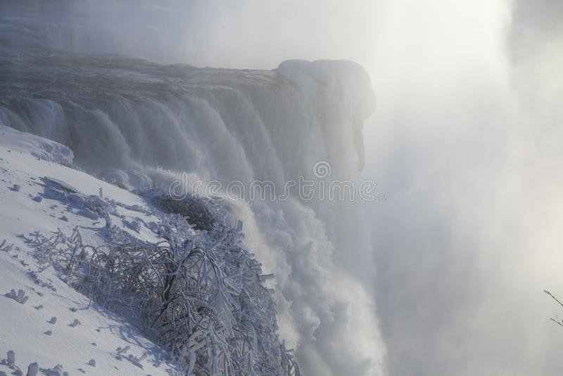 Niagara Falls na neve fotos de stock royalty free