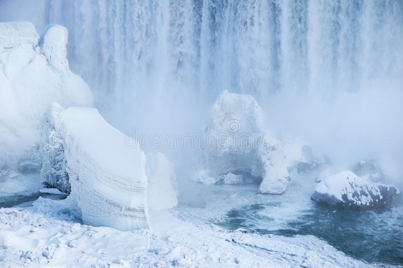 Niagara Falls no inverno fotos de stock royalty free