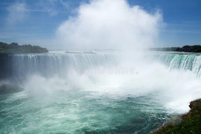 NIAGARA FALLS, ONTARIO, CANADÁ - 21 de mayo de 2018: La herradura cae en Niagara Falls vio del lado canadiense imagen de archivo libre de regalías