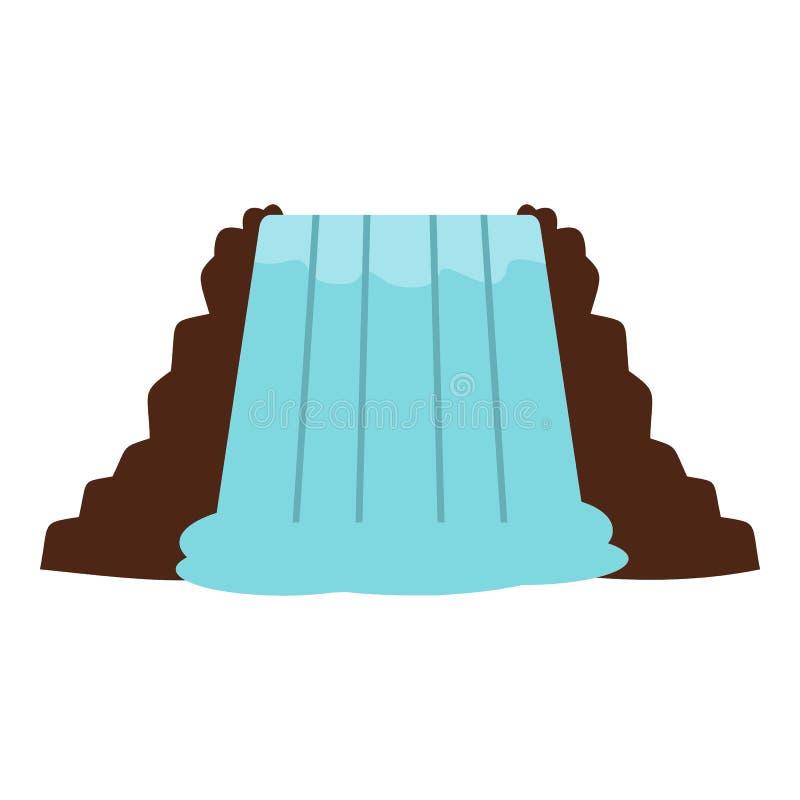 Niagara Falls, Ontario, Canada icon isolated. Niagara Falls, Ontario, Canada icon flat isolated on white background vector illustration stock illustration