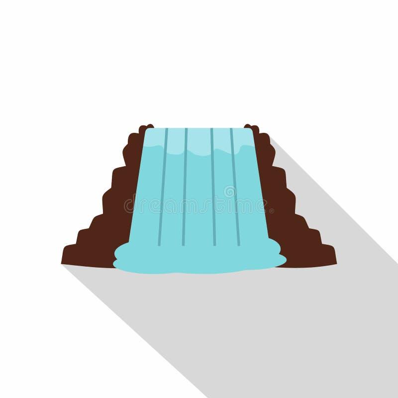 Niagara Falls, Ontario, icono de Canadá, estilo plano ilustración del vector