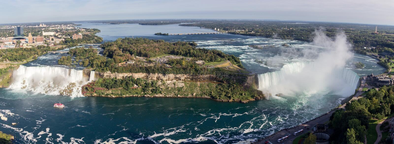 Niagara Falls in Ontario Kanada stockfoto