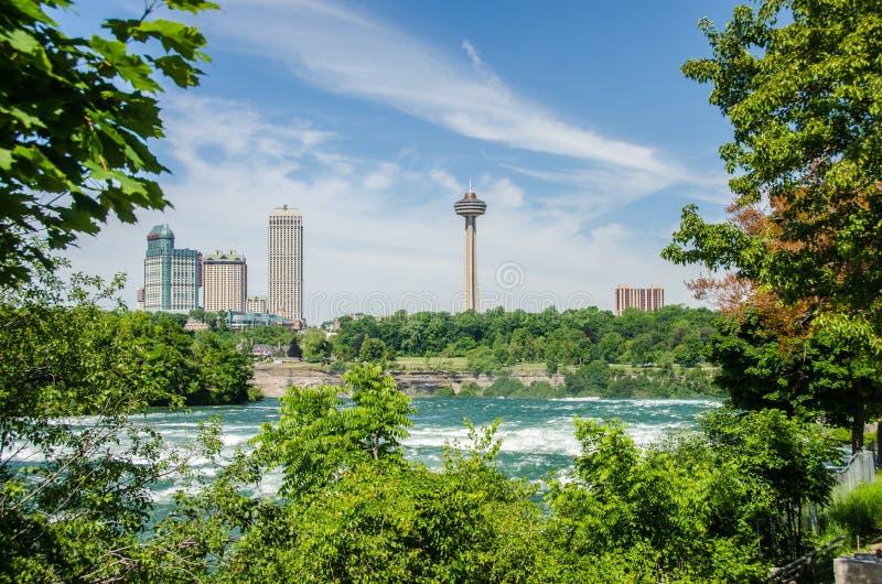 Niagara Falls Ontario Kanada horisont arkivfoton