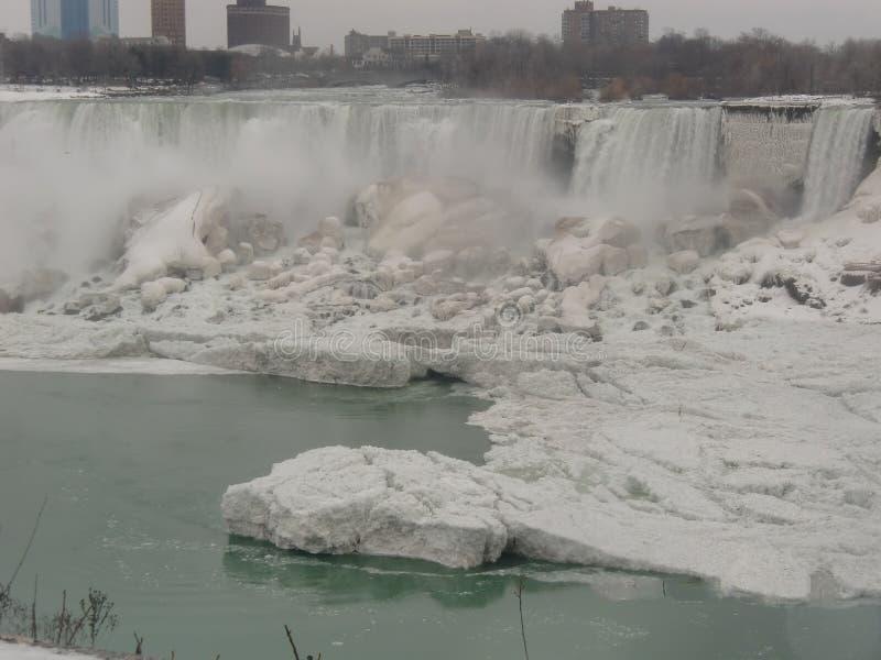 Niagara Falls Ontario Kanada i vintern royaltyfria foton