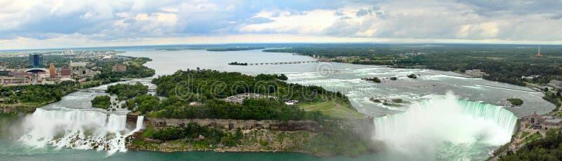 Niagara Falls panoramisch lizenzfreies stockbild