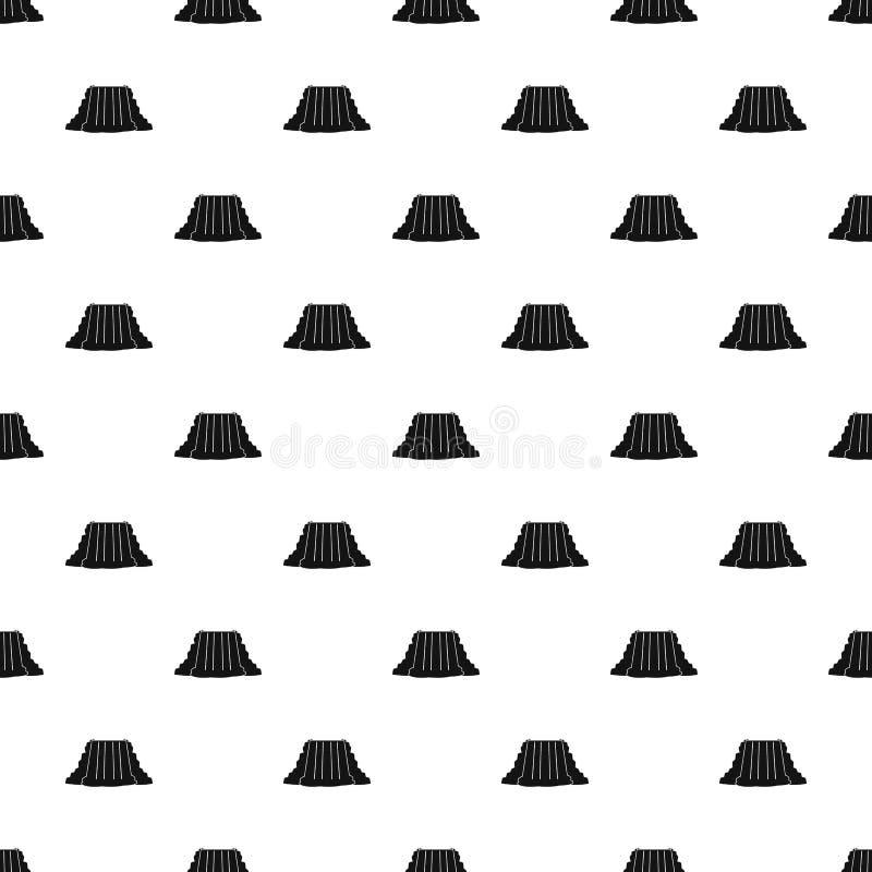 Niagara Falls pattern vector. Niagara Falls pattern seamless in simple style vector illustration stock illustration