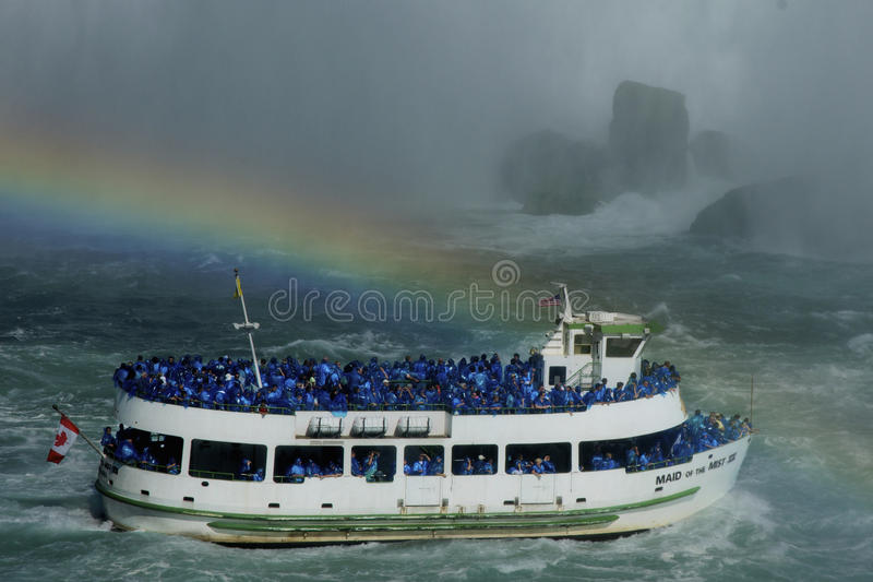 Download Niagara Falls Rainbow editorial image. Image of america - 20931865