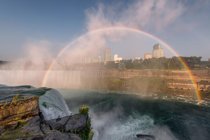 Download Niagara Falls rainbow stock image. Image of city, canada - 26470323