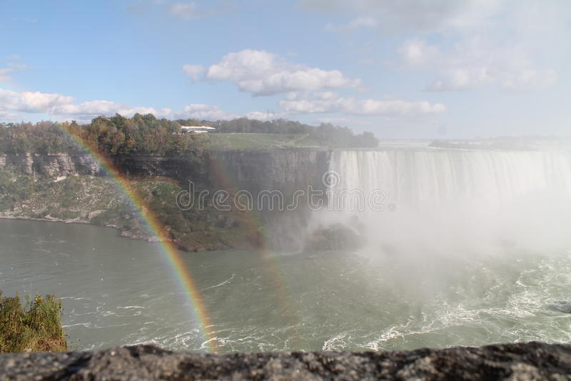 Niagara falls rainbow royalty free stock photo