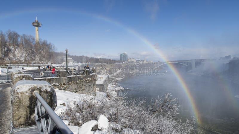 Niagara Falls Rainbow royalty free stock photos