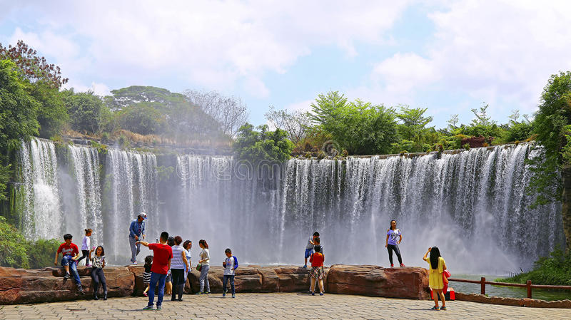 Niagara falls reproduction at shenzhen window of the world stock images