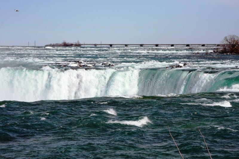 Niagara falls river in Canada royalty free stock photography