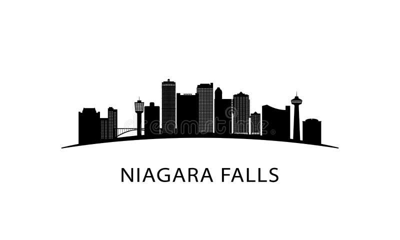 Niagara Falls stadshorisont royaltyfri illustrationer