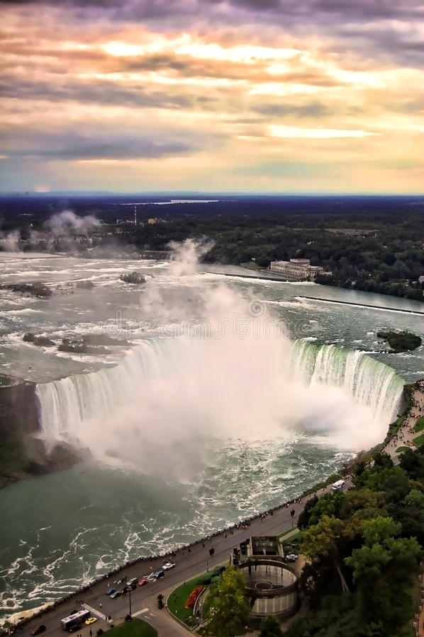 Download Niagara Falls Sunset stock photo. Image of niagara, ontario - 16507596