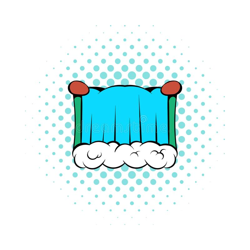 Niagara Falls symbol, komikerstil vektor illustrationer