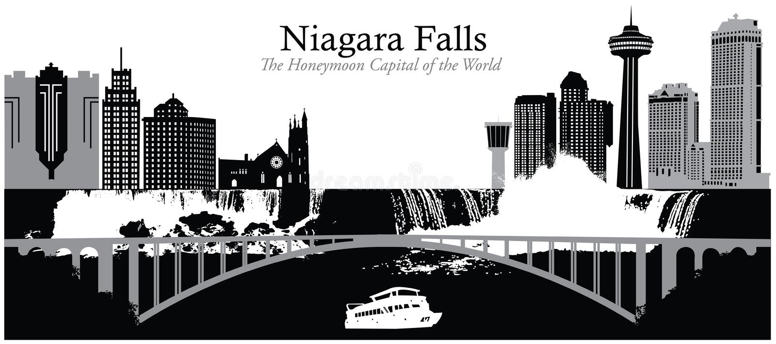 Niagara Falls stock illustration