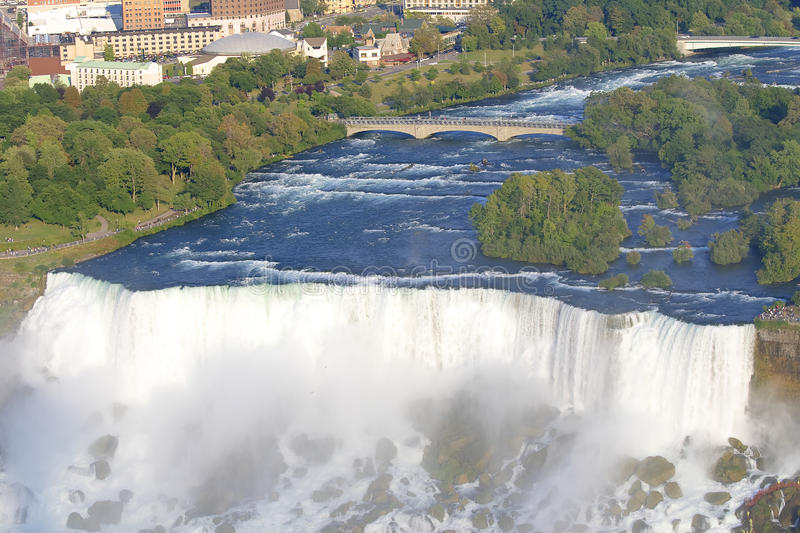 Niagara Falls with view on American side royalty free stock photography