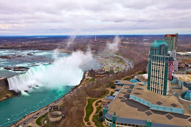 Niagara Falls, vista aérea fotos de stock royalty free