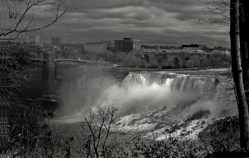 Niagara Falls, vista delle cadute americane immagine stock