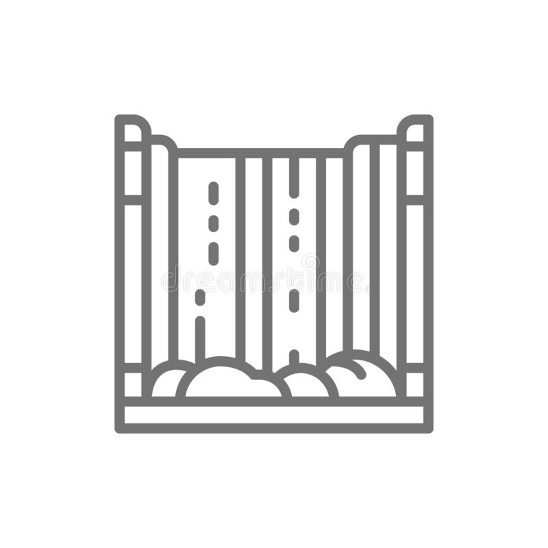 Niagara Falls, waterfall line icon. royalty free illustration