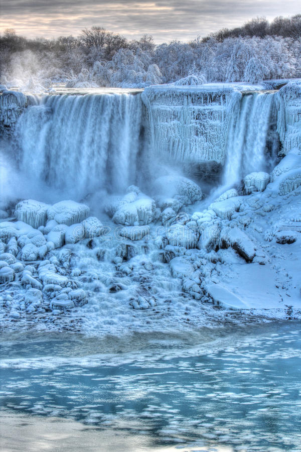 Niagara Falls in Winter. American Falls Niagara Falls, Canada stock photography