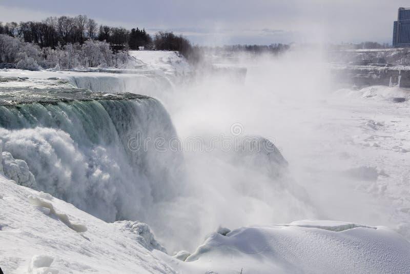 Niagara Falls in winter royalty free stock image