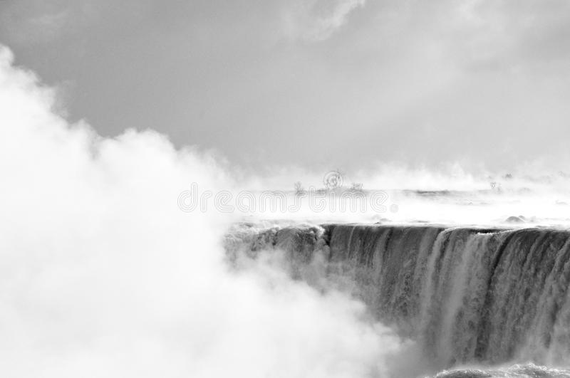 Niagara Falls in the winter with snow and ice royalty free stock image
