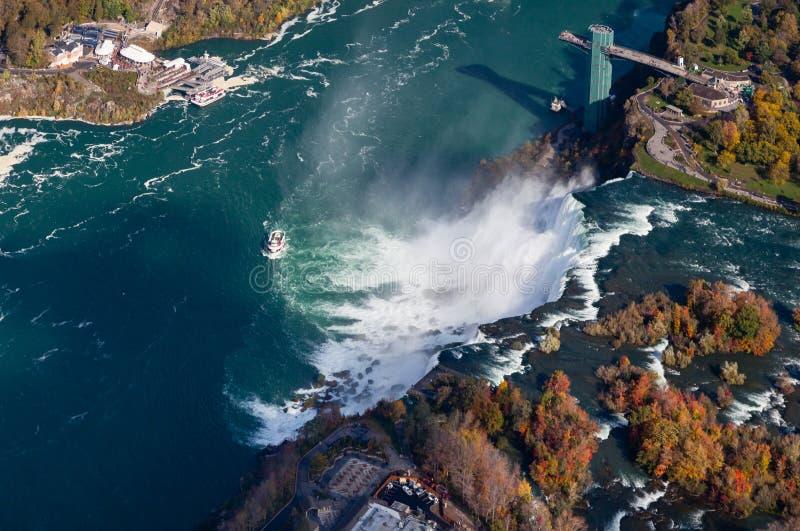 Niagara- FallsLuftaufnahme lizenzfreies stockfoto