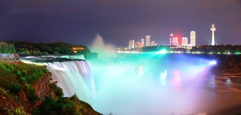 Niagara- Fallspanorama stockbild